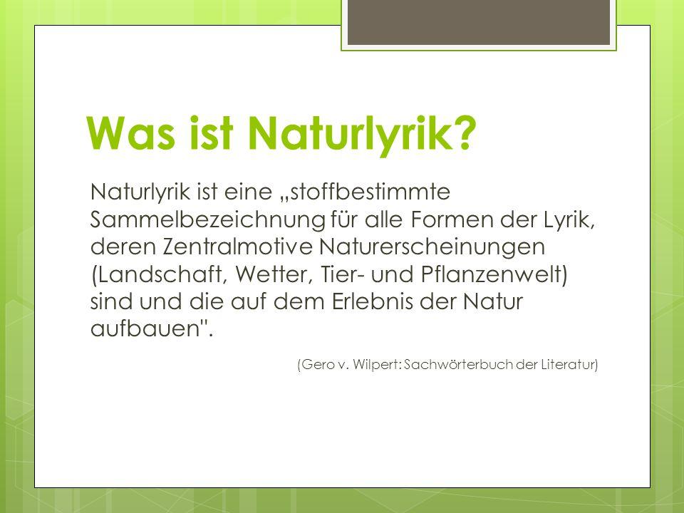 Was ist Naturlyrik