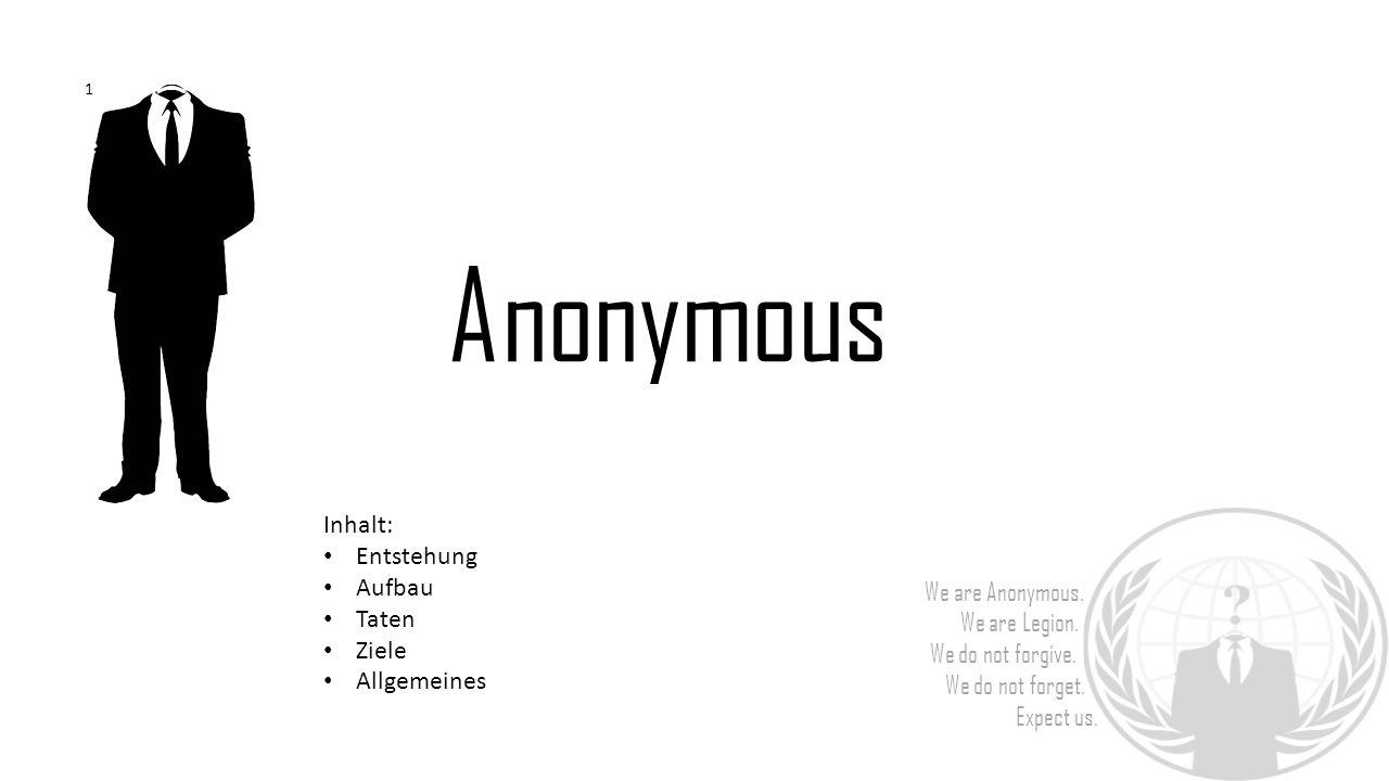 Anonymous Inhalt: Entstehung Aufbau Taten Ziele