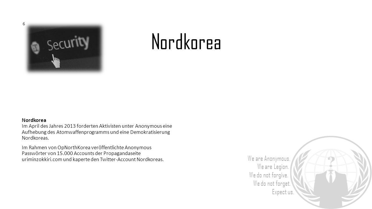 6 Nordkorea.