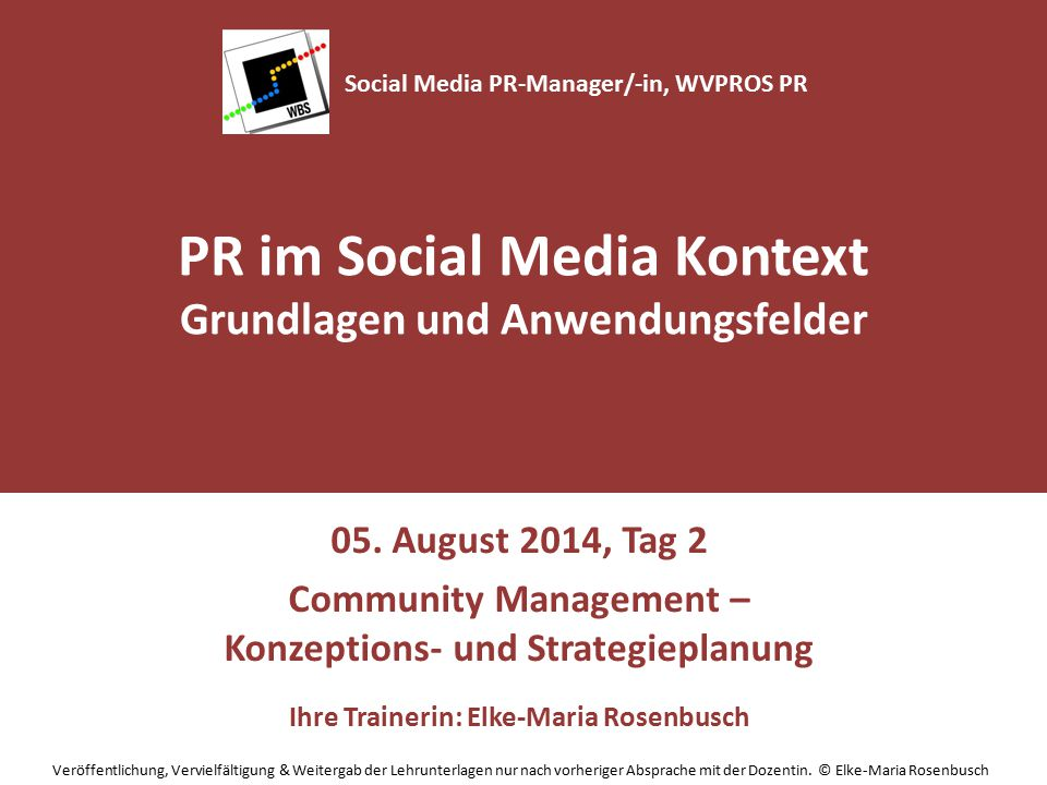 Community Management – Konzeptions- und Strategieplanung