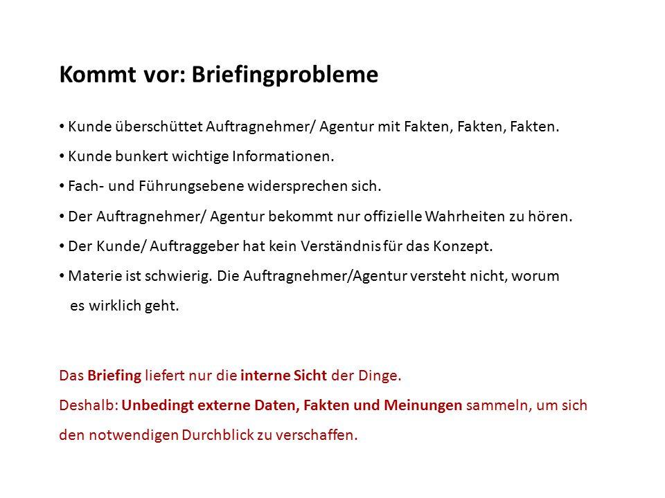 Kommt vor: Briefingprobleme