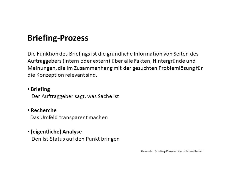 Briefing-Prozess