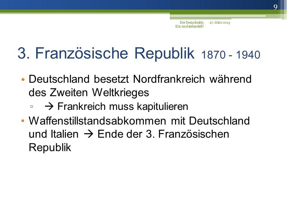 3. Französische Republik 1870 - 1940