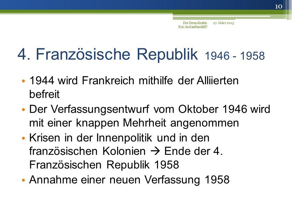 4. Französische Republik 1946 - 1958