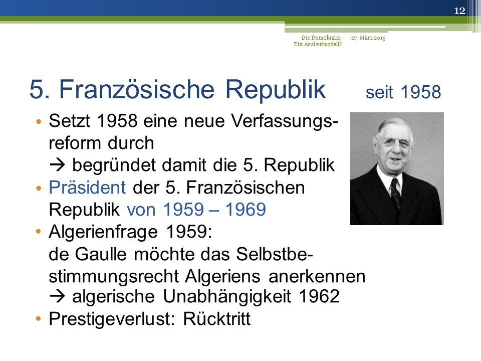 5. Französische Republik seit 1958