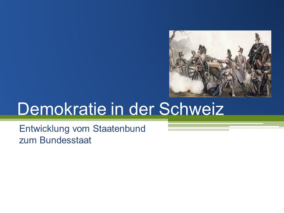 Demokratie in der Schweiz