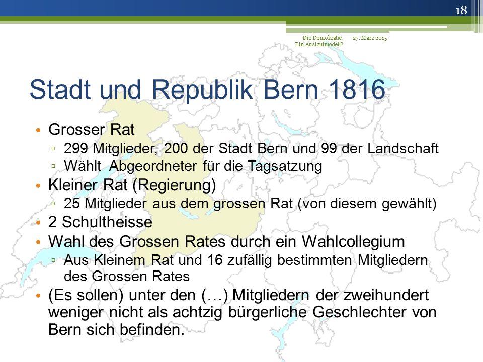 Stadt und Republik Bern 1816