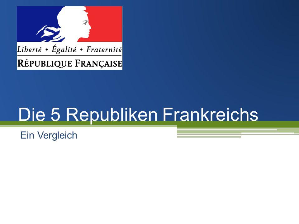 Die 5 Republiken Frankreichs