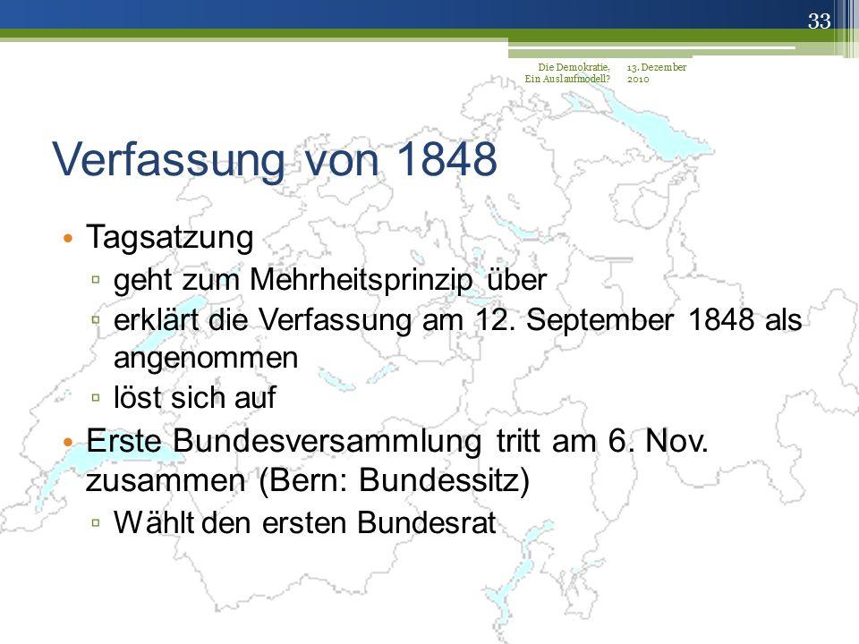 Verfassung von 1848 Tagsatzung