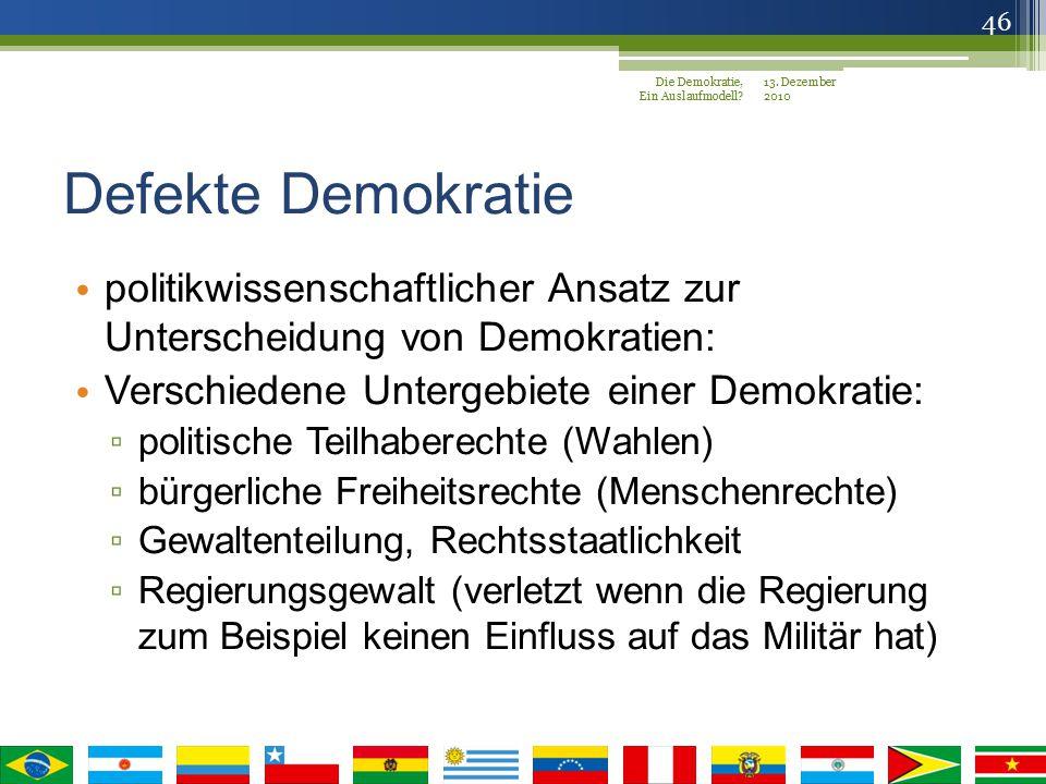 Die Demokratie, Ein Auslaufmodell