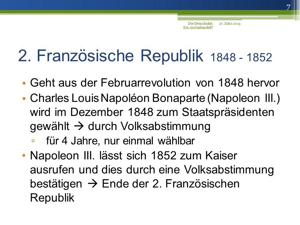 2. Französische Republik 1848 - 1852