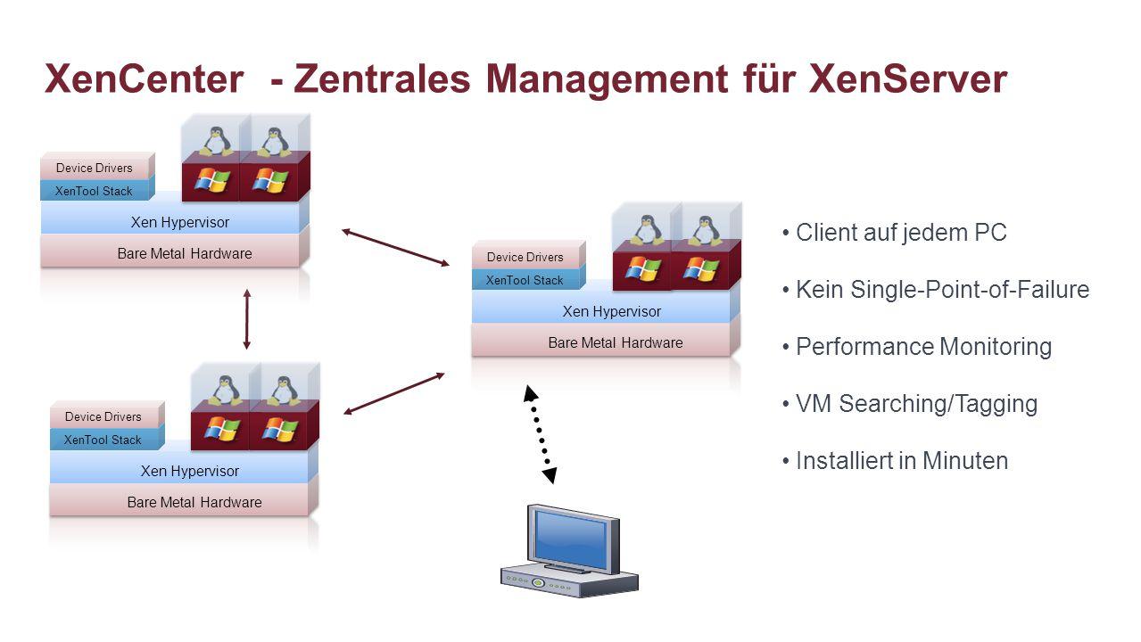 XenCenter - Zentrales Management für XenServer