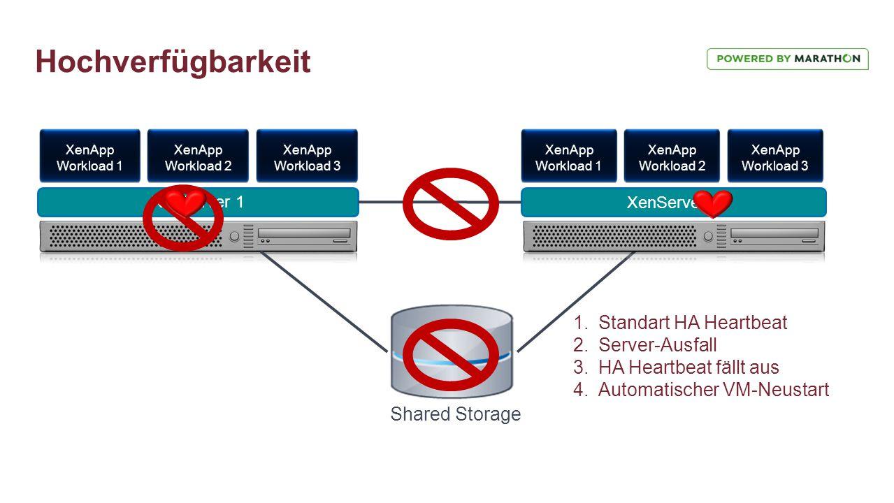 Hochverfügbarkeit Standart HA Heartbeat Server-Ausfall