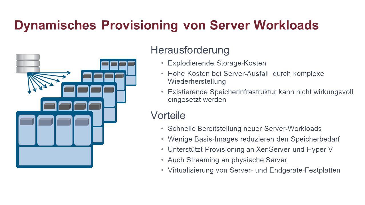 Dynamisches Provisioning von Server Workloads
