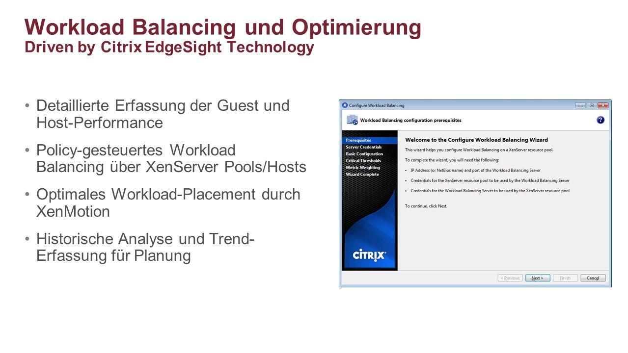 Workload Balancing und Optimierung Driven by Citrix EdgeSight Technology