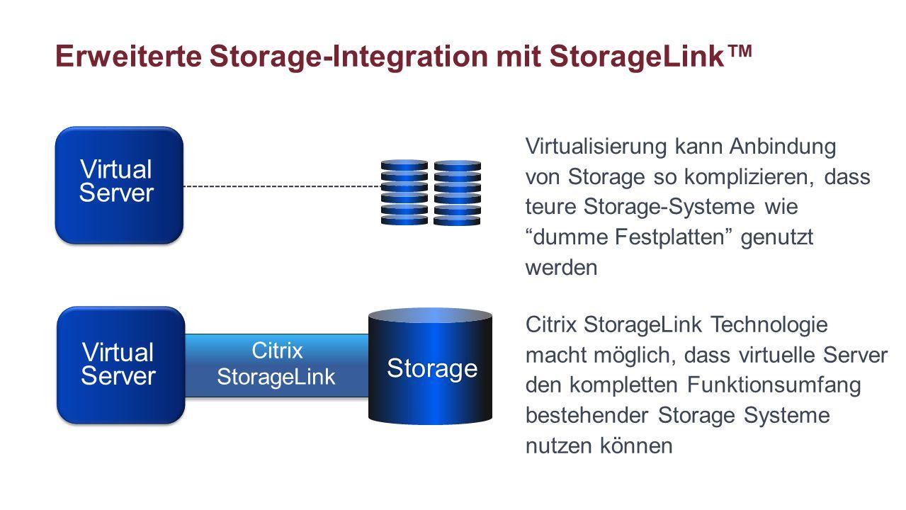 Erweiterte Storage-Integration mit StorageLink™
