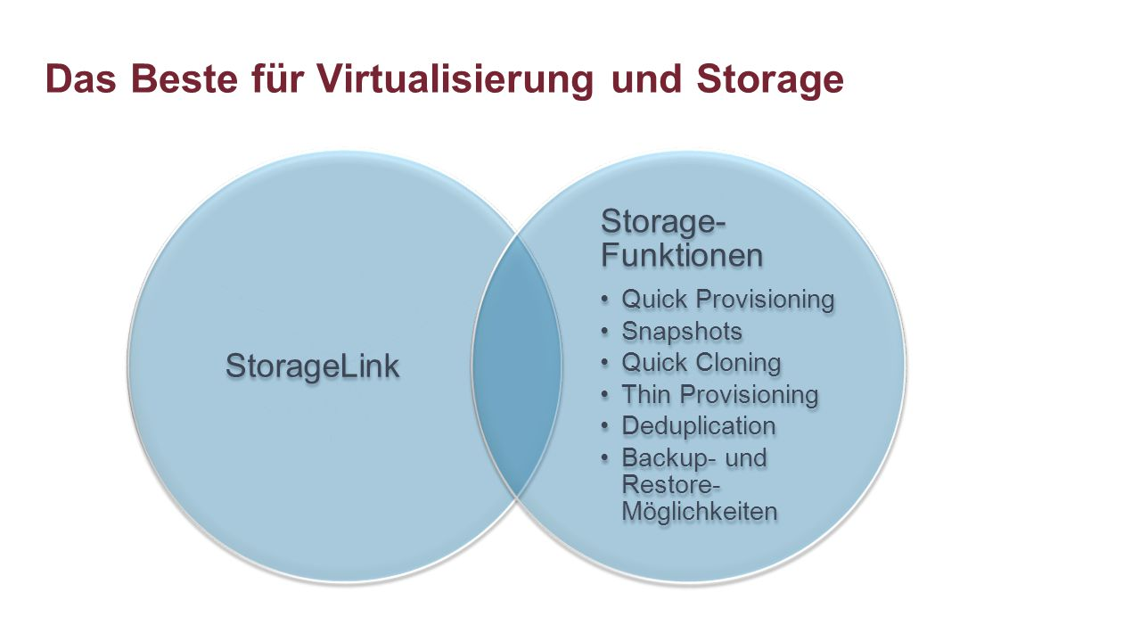 Das Beste für Virtualisierung und Storage