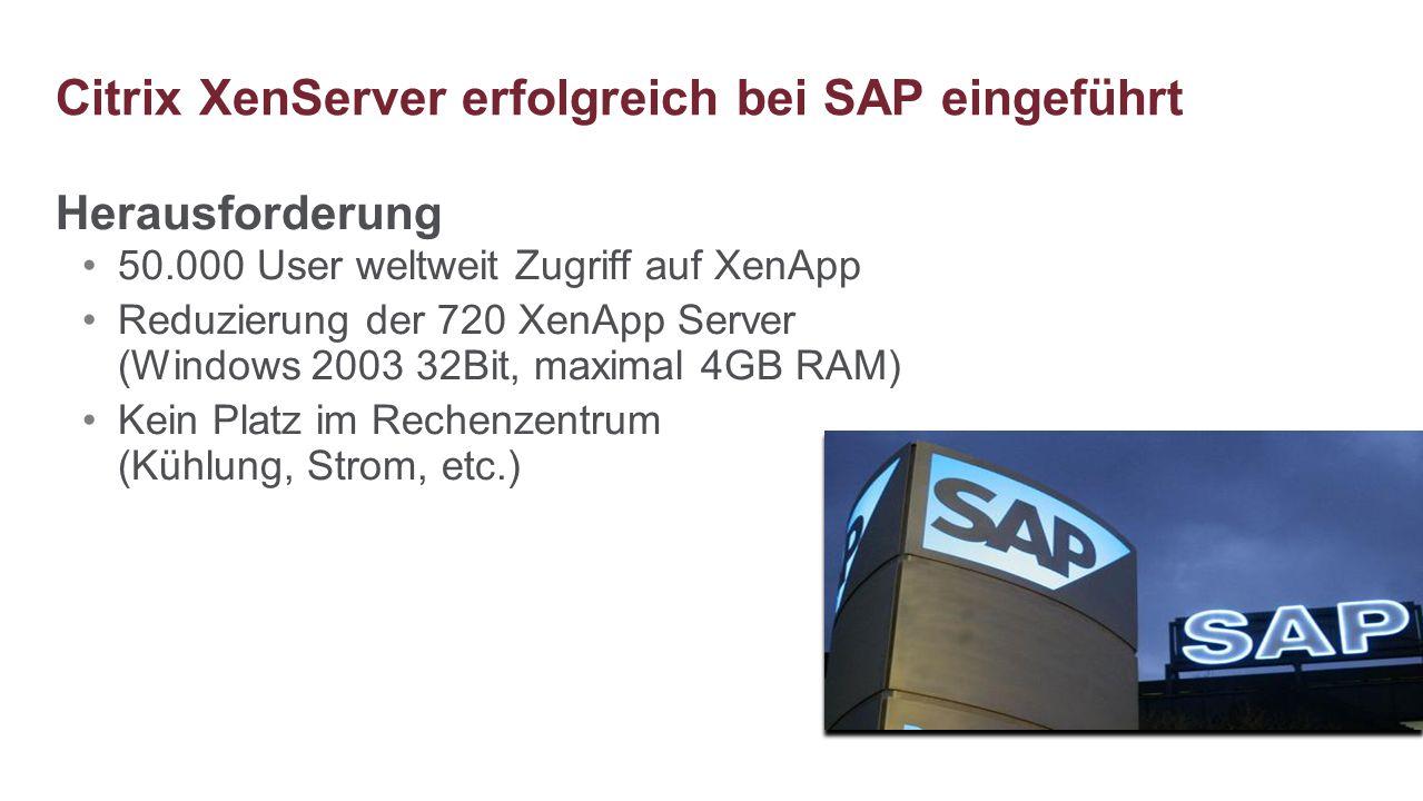 Citrix XenServer erfolgreich bei SAP eingeführt