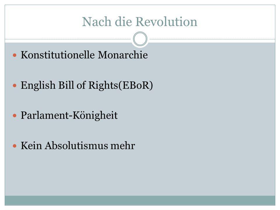 Nach die Revolution Konstitutionelle Monarchie