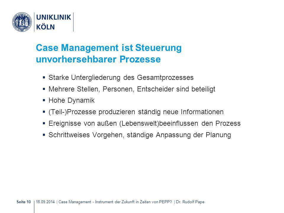 Case Management ist Steuerung unvorhersehbarer Prozesse