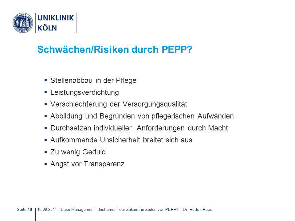 Schwächen/Risiken durch PEPP
