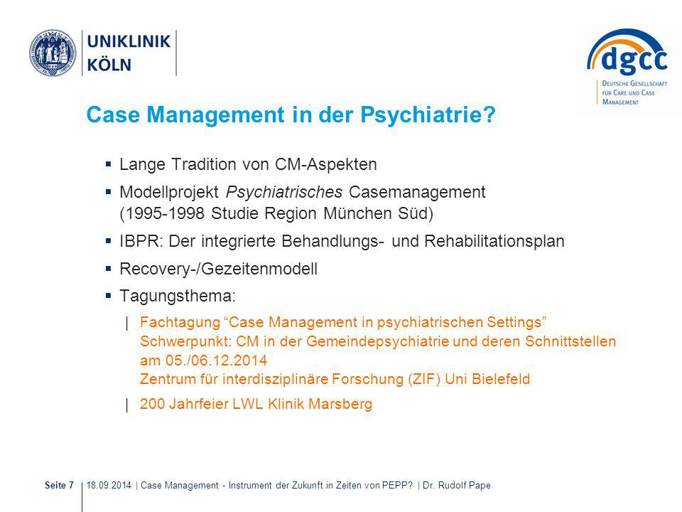 Case Management in der Psychiatrie