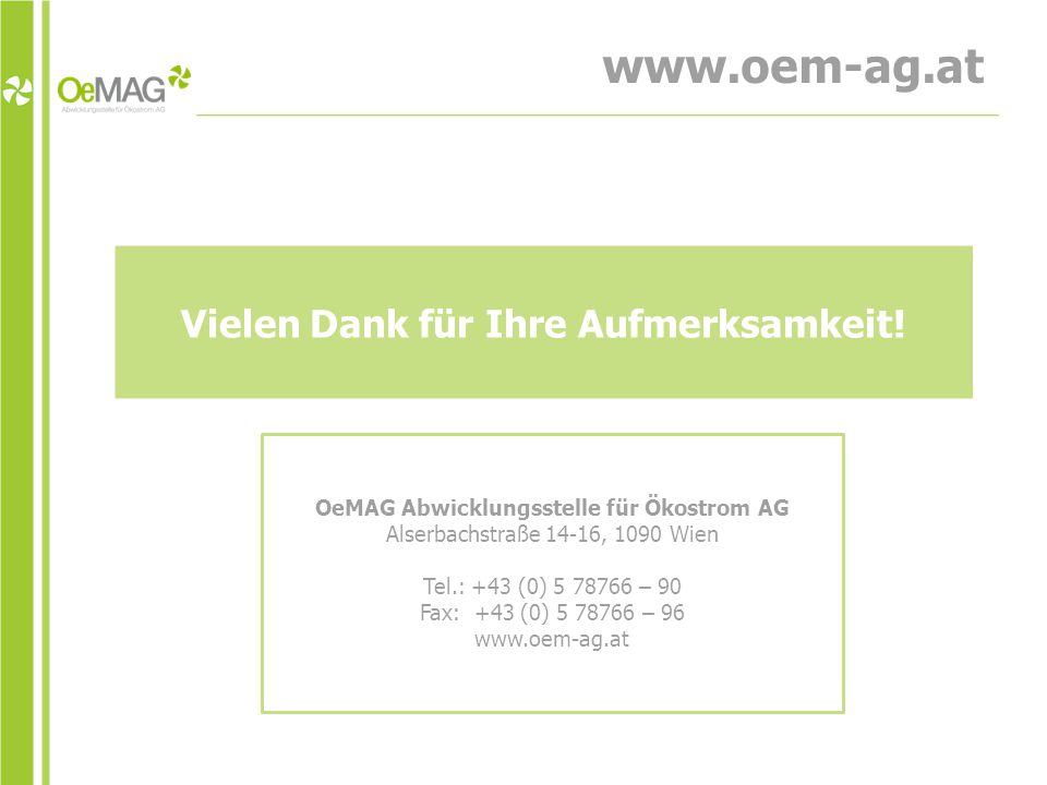 www.oem-ag.at Vielen Dank für Ihre Aufmerksamkeit!