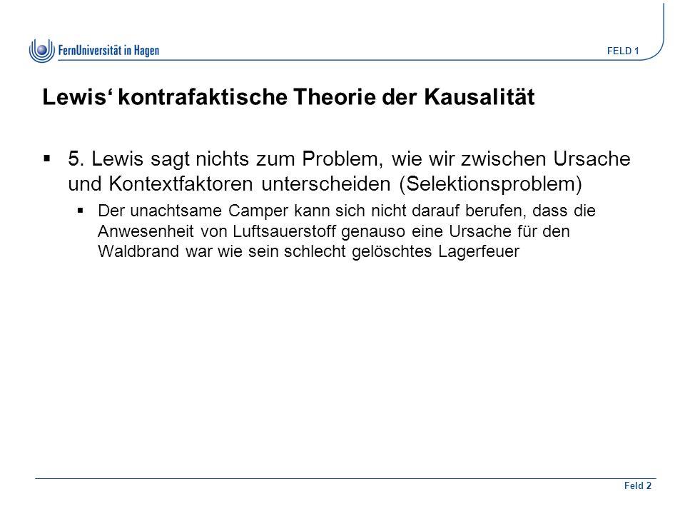 Lewis' kontrafaktische Theorie der Kausalität