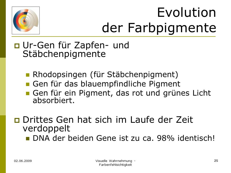 Evolution der Farbpigmente