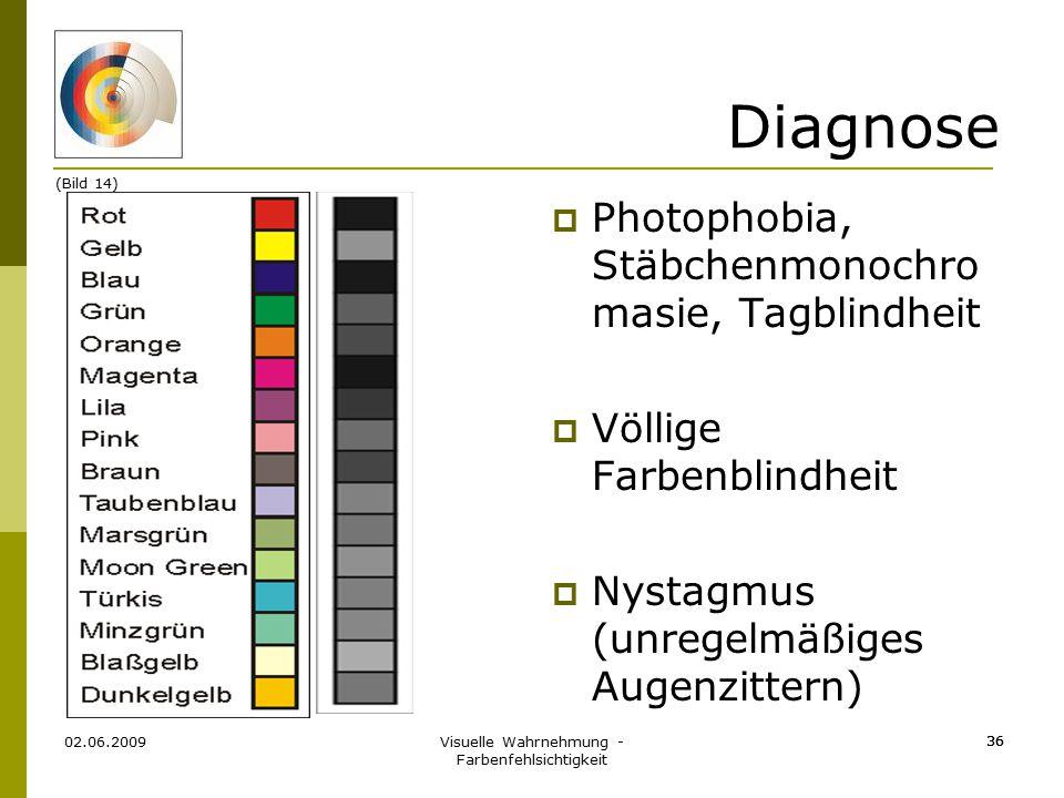 Visuelle Wahrnehmung - Farbenfehlsichtigkeit