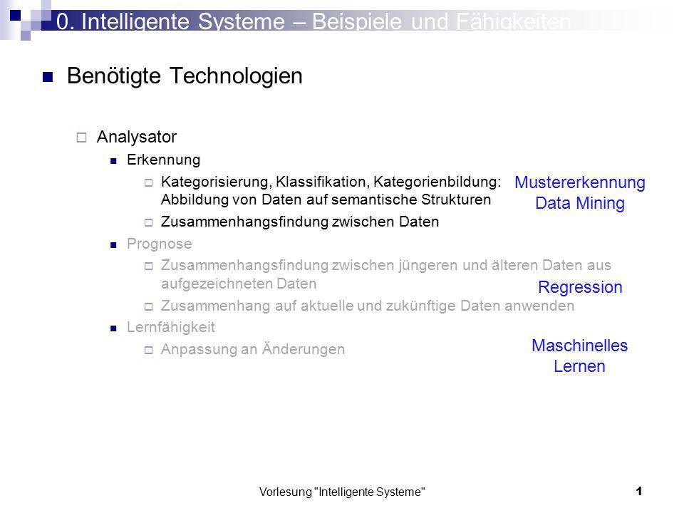 0. Intelligente Systeme – Beispiele und Fähigkeiten