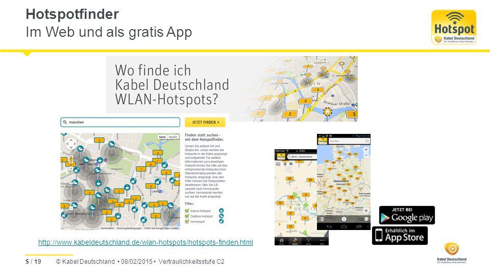 Hotspotfinder Im Web und als gratis App