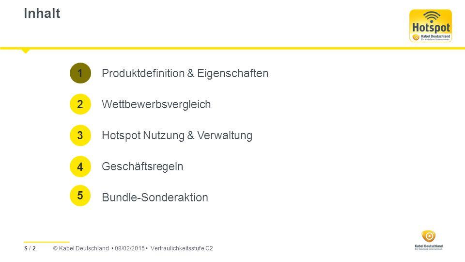 Inhalt Bundle-Sonderaktion 1 Produktdefinition & Eigenschaften