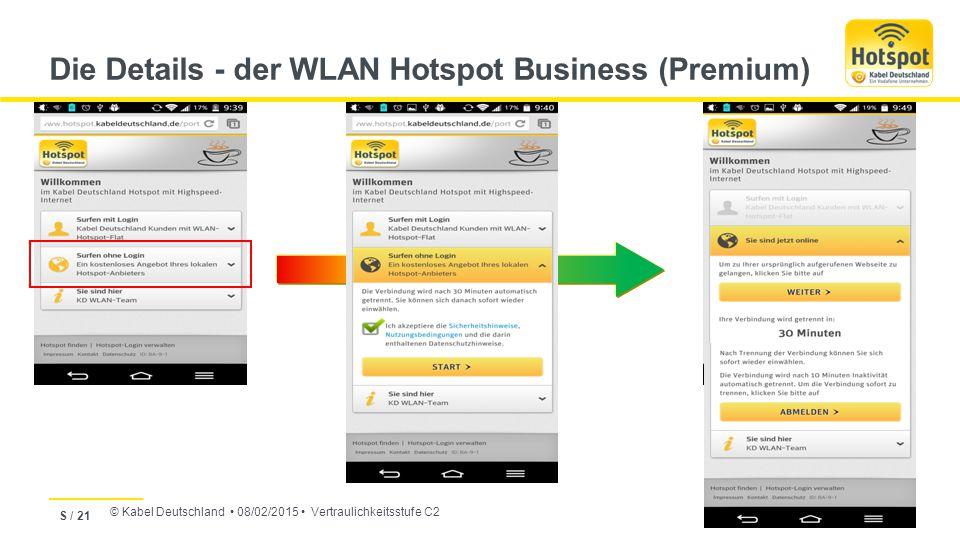 Die Details - der WLAN Hotspot Business (Premium)