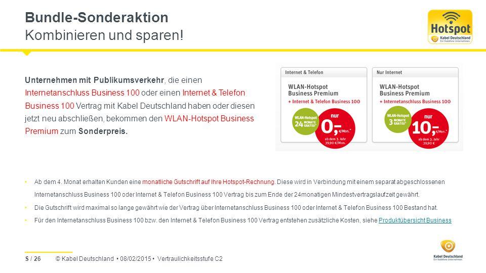Bundle-Sonderaktion Kombinieren und sparen!