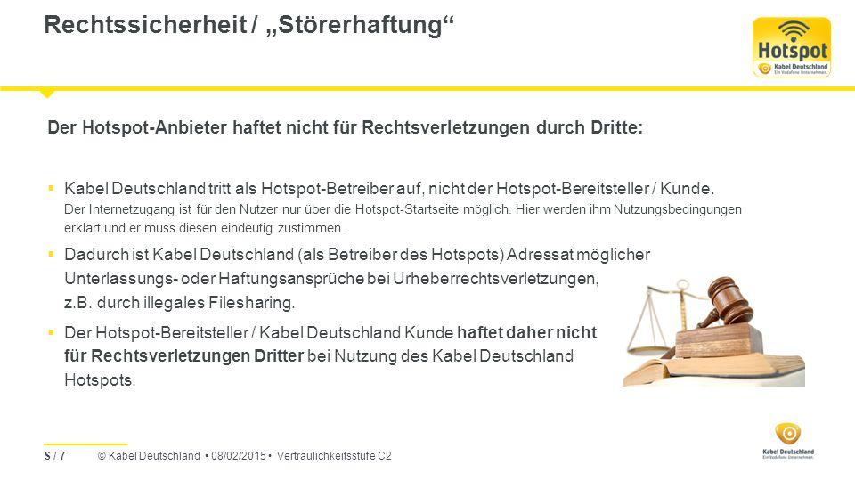 "Rechtssicherheit / ""Störerhaftung"