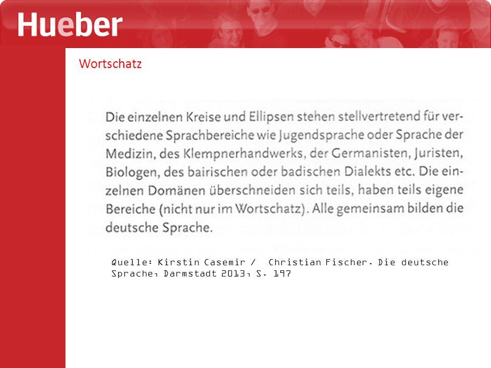 Wortschatz Quelle: Kirstin Casemir / Christian Fischer.