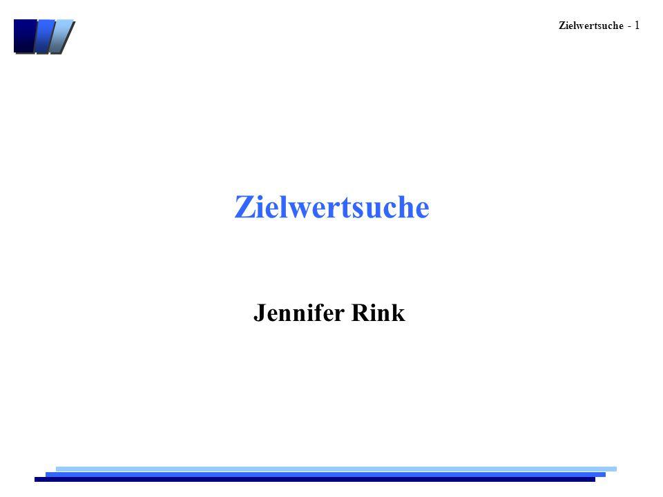 Zielwertsuche Jennifer Rink