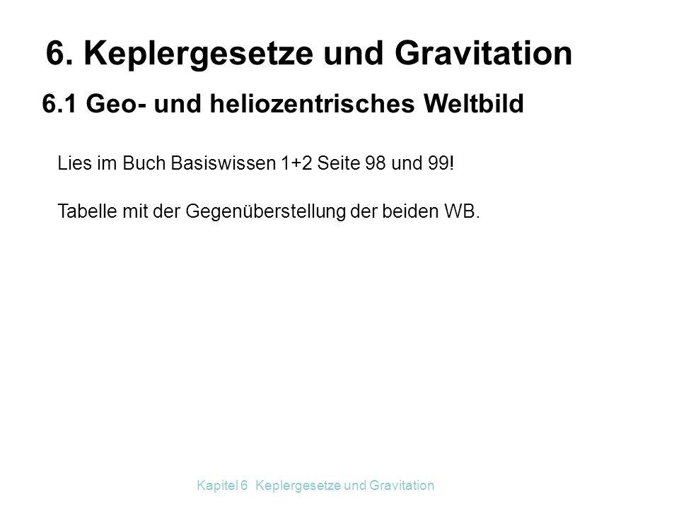6. Keplergesetze und Gravitation