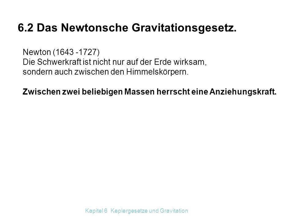 6.2 Das Newtonsche Gravitationsgesetz.
