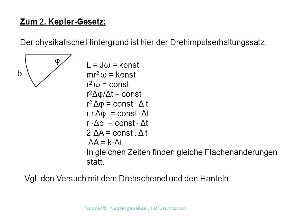 Kapitel 6 Keplergesetze und Gravitation