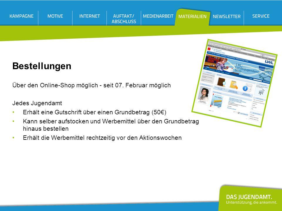 Bestellungen Über den Online-Shop möglich - seit 07. Februar möglich