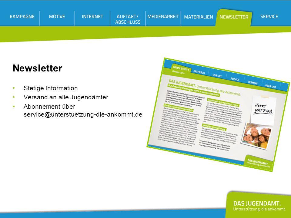 Newsletter Stetige Information Versand an alle Jugendämter