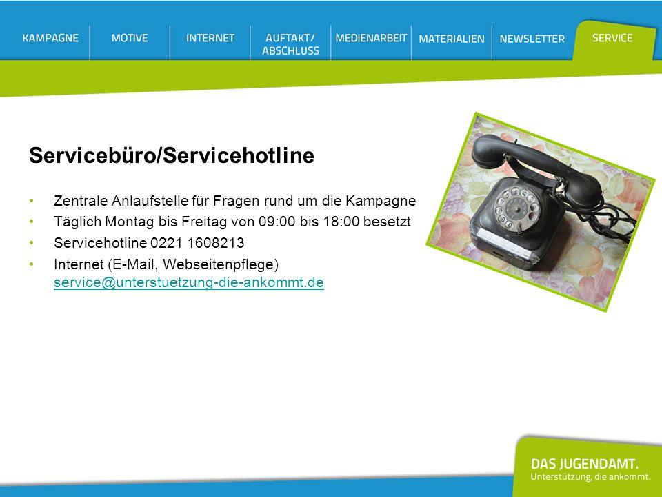 Servicebüro/Servicehotline