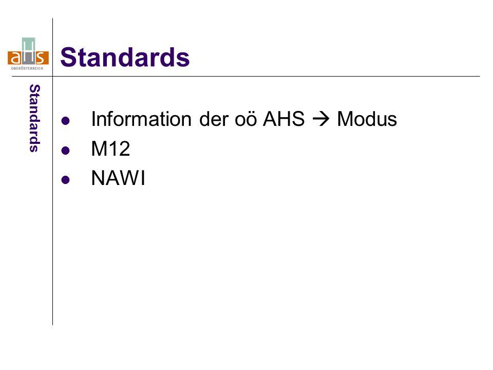 Information der oö AHS  Modus M12 NAWI