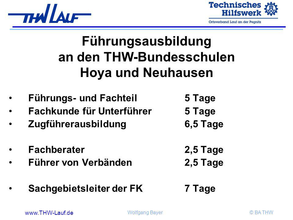 Führungsausbildung an den THW-Bundesschulen Hoya und Neuhausen