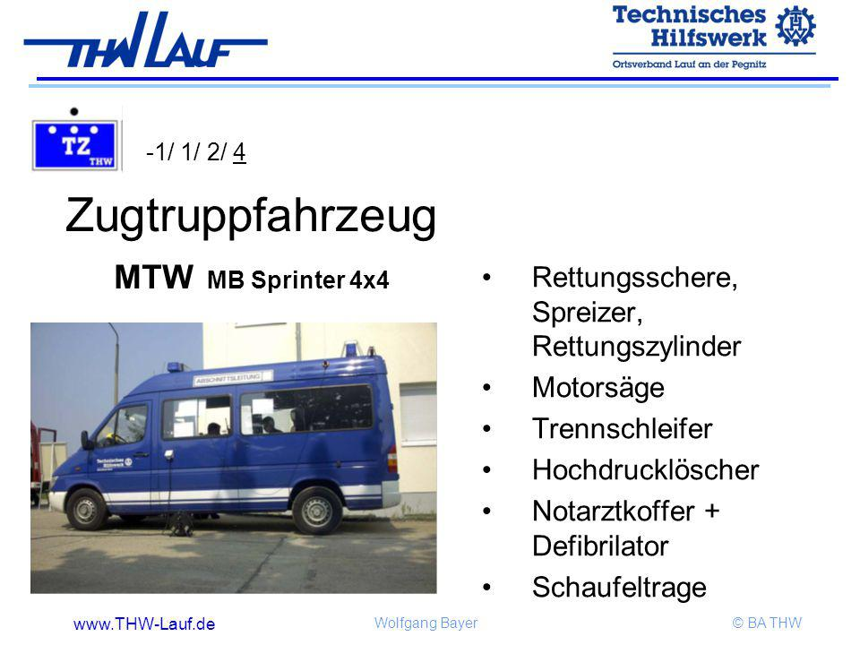 Zugtruppfahrzeug MTW MB Sprinter 4x4