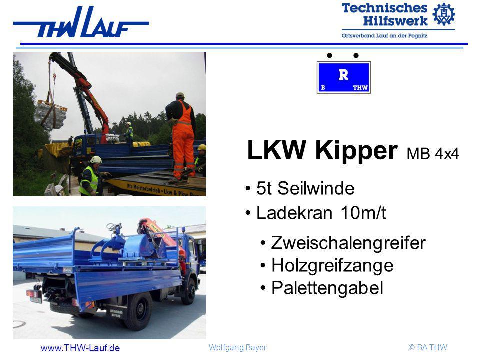 LKW Kipper MB 4x4 5t Seilwinde Ladekran 10m/t Zweischalengreifer