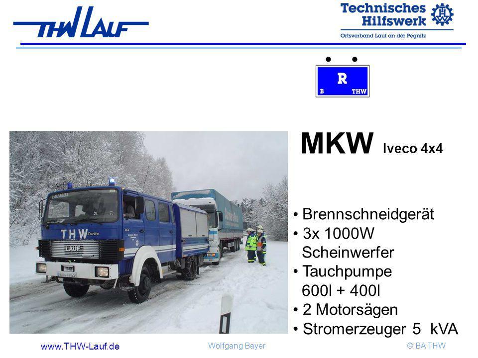 MKW Iveco 4x4 Brennschneidgerät 3x 1000W Scheinwerfer Tauchpumpe