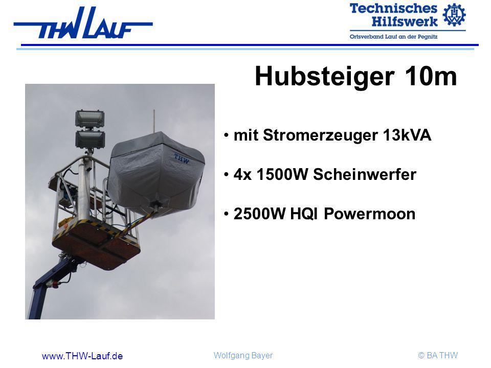 Hubsteiger 10m mit Stromerzeuger 13kVA 4x 1500W Scheinwerfer